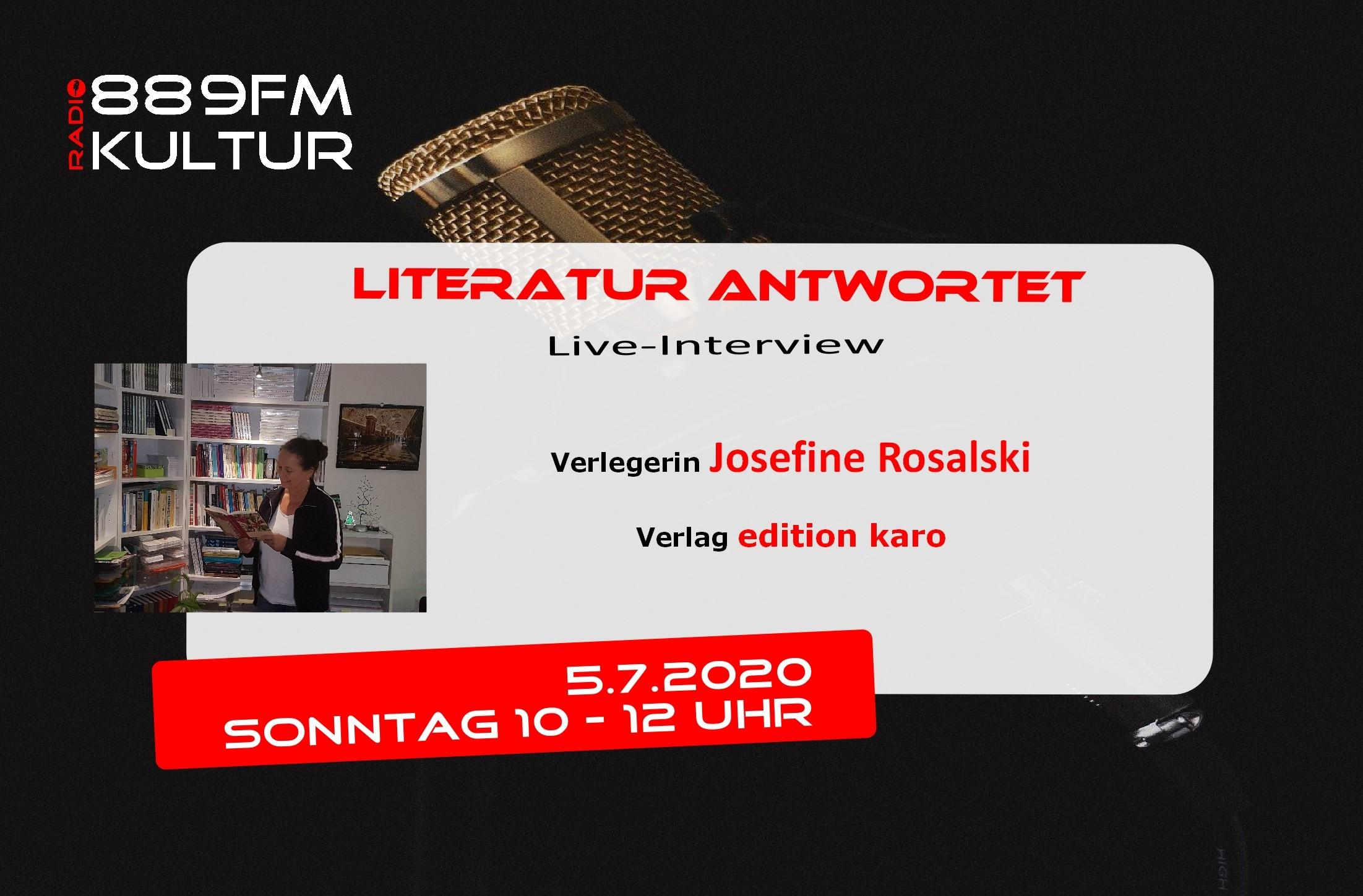 Literatur antwortet Josefine Rosalski